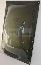 17 x 25 OD SMOKE EXTERIOR Skylight RV trailer dome Plastic Lexan 14 x 22 ID
