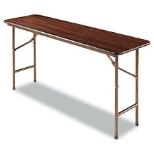 Lot of 10 5ft Walnut Finish Folding Classroom Training Table