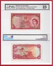 1960 10/ Rhodesia & Nyasaland British Commonwealth QE2 Note. PMG Certified VF25