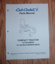 CUB CADET 6000 & 7000 SERIES 811 60 IN MOWER DECK  PARTS MANUAL