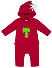 NEW Le Top Infant Santa Surprise Hooded Holiday Gift Jumpsuit Sz 3 Months NWT