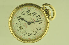 VINTAGE 16 SIZE WALTHAM SWISS INCABLOC POCKETWATCH NICE CASE! 25 JEWELS!