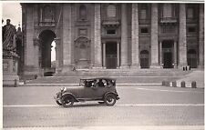 # ROMA - S. PIETRO: AUTO D'EPOCA SUL SAGRATO - fotocartolina