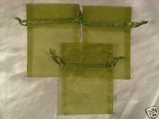 50 3X4 MOSS GREEN Organza Gift Bag Bags Wedding Favor