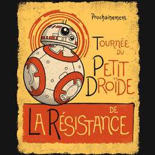 STAR WARS Tournee du Petit Droide R2-D2 French Chat Noir RIPT Apparel T-SHIRT