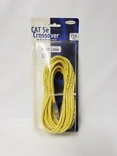 Belkin Cat 5e Crossover Patch Cable Rj45 Male/Male Connectors 25 ft Yellow New