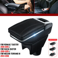 Car Armrest Center Console Storage Box For Renault Dacia Duster I 2010-2015