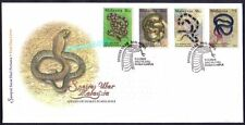 2002 Malaysia Species of Snakes 4v Stamps FDC (Kuala Lumpur Cachet)