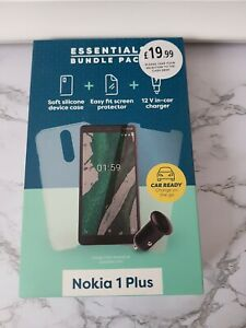 Essential Bundle Pack for phones Nokia 1 Plus case, screen protector &