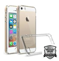 iPhone 5S Clear Gel Case. Silicone Shock Absorption Phone Cover / iPhone 5