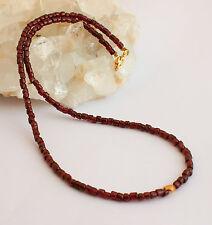 natural granate cadena de Piedra Preciosa collar,GRANATES,AUTÉNTICO,rojo vino