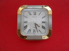 """Vintage Alarm Clock Seiko Square face, Quartz, Roman numeral, 4.1"""" square"""