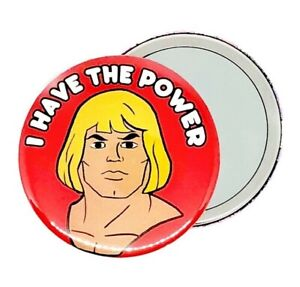 HE-MAN THE MASTERS OF THE UNIVERSE 1980S CARTOON HAND POCKET MAKEUP MIRROR