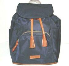 Dooney & Bourke Medium Murphy Navy Blue Nylon Backpack Leather Trim NWT $198