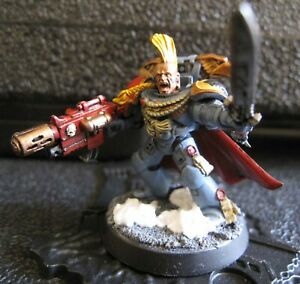 40K Space Wolves Wolf Lord with Frostblade and Combi-Melta plastic well painted.