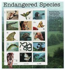 Endangered Species Sheet Of 15 Us Postage Stamps