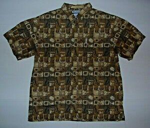 Columbia Sportswear Co River Lodge Men's Fly Fishing Lures, Fish & Reel Shirt XL