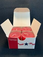 Four Longaberger All American Berry Votive Candles
