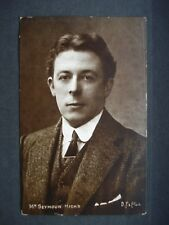 Used Black & White Edwardian Post Card Mr Seymour Hicks