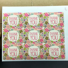 135pcs Flower Thank You Seal label Stickers for Wedding Gift Bags sticker 4x3cm