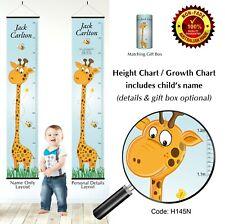 Giraffe Theme Height Growth Chart Wall Hanging Bedroom Gift for Boys Grow Child