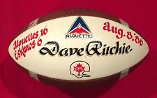 Vintage 1986 Montreal Alouettes CFL Spalding Game Ball Painted Trophy Football