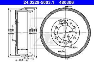 ATE Brake Drum For TOYOTA Hilux VII VIII 42431-0K130
