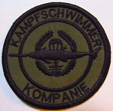 German Special Forces Navy Commando Patch Kampfschwimmer-Combat Swimmer Subdued