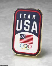 OLYMPIC PINS BADGE 2020 TOKYO JAPAN TEAM USA NOC FLAG LOGO RECTANGLE PATRIOTIC