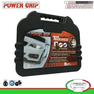 Catene da Neve Power Grip 7mm Omologate gruppo 90 per gomme 225/45r17 Fiat Tipo