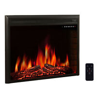 R.W.FLAME 39 inch Electric Fireplace Insert, Stove with Remote ,Timer 750W-1500W