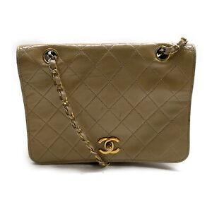 Chanel Shoulder Bag cross body Beiges Leather 2201459