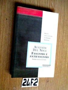 AUGUSTO DEL NOCE FASCISMO E ANTIFASCISMO (24F2)
