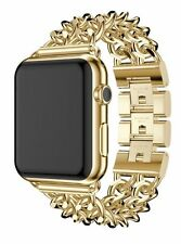 24k Gold Plated 42mm Apple Watch Series 2 Stainless Steel Case Gold Links Band