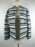 b25c2916 Chico's Size 2 Blazer Jacket Embroidered Striped Sequin Casual Career Lined  C