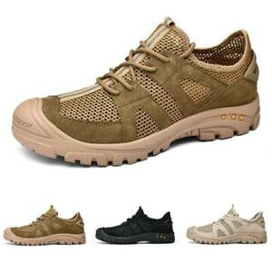 Mens Summer Outdoor Sneakers Mesh Breathable Hiking Athleisure Shoes Casual 44 L