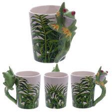 Fantasy Tasse Frosch Kaffeetasse Kaffeebecher Becher Mug Teetasse Frog Grün Laub