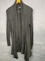 Women's Marks And Spencers Cardigan Jumper Grey Size 16 Full Sleeve ladies