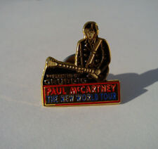 "PAUL McCARTNEY ""THE NEW WORLD TOUR"" OFFICIAL PIN / THE BEATLES - GRUNDIG"