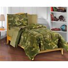 Dream Factory Geo Camo Full 7-piece Bed in a Bag with Sheet Blue Full