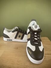 K Swiss Trainers White/brown Leather Size 10uk