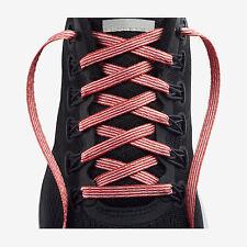"Brand New Nike 49"" Orange White Stripe Shoe Laces Basketball Running Training"