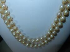 Vintage Akoya Pearls 48 inch strand necklace 8mm pearls beautiful luster