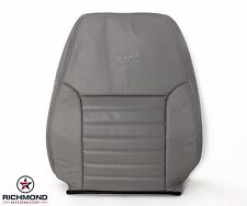 2002 Ford Mustang GT -Driver Side LEAN BACK Perforated Leather Seat Cover Gray