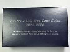 10 New UNC 5 Cent, Nickel Coins 2004-2006 - complete collection 5 new designs