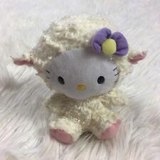 TY HELLO KITTY by Sanrio Little Lamb Stuffed Animal Plush With Hair Flower