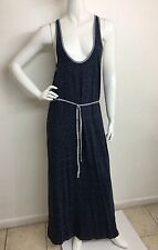 Women's New SOFT soft . joie Dark Indigo Round/N Sleeveless Printed Dress M NWT