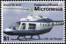 BELL 206 JET RANGER / JetRanger Utility Helicopter Aircraft Stamp (2007)