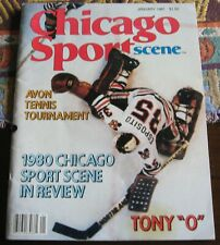 Tony Esposito Hockey Cover Chicago Sports Scene Magazine January 1981 EX-MT +