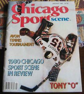 Tony Esposito Hockey Cover Chicago Sports Scene Magazine January 1981 EX-MT +